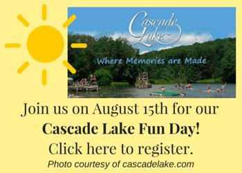 Cascade Lake Fun Day! August 15th
