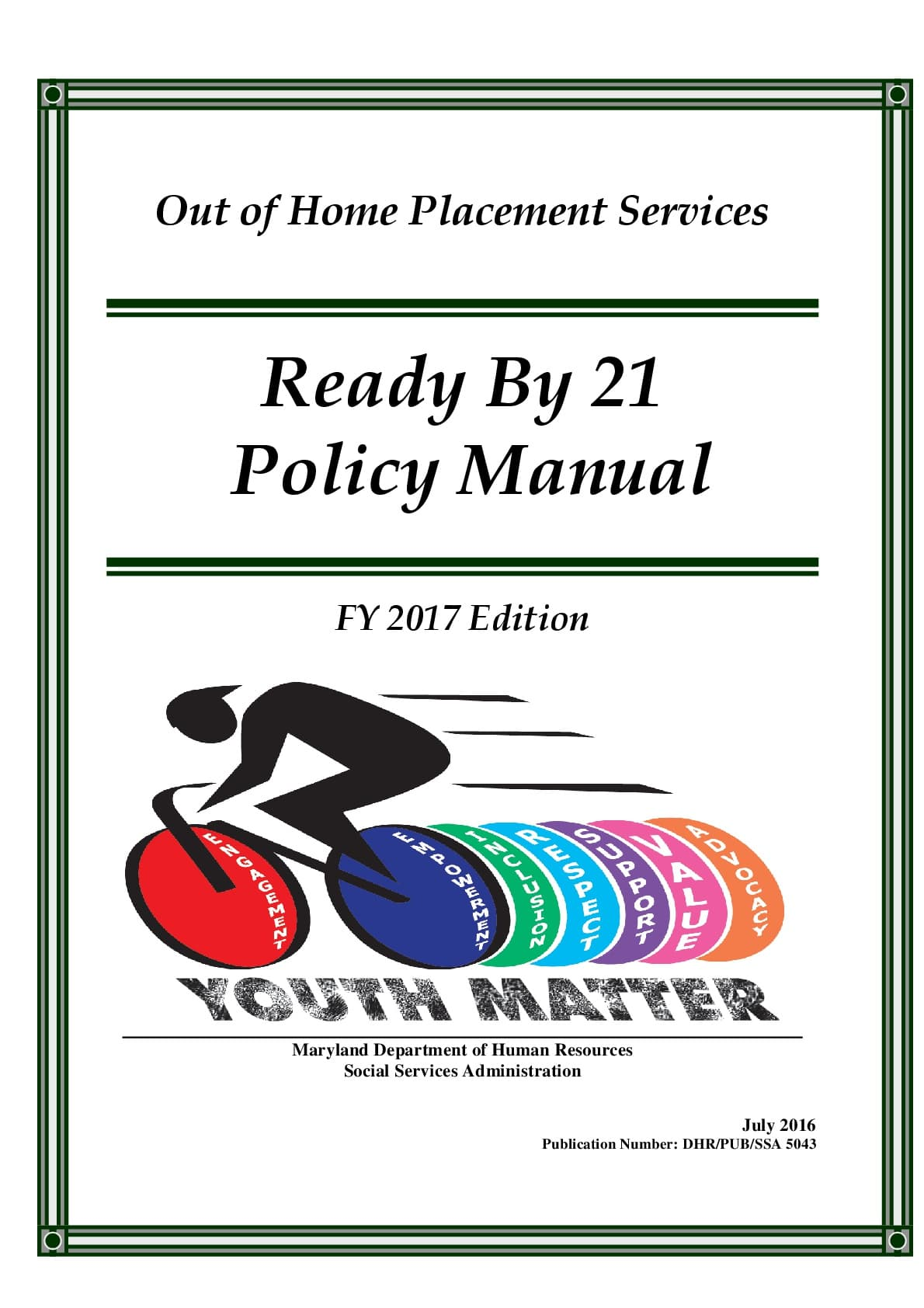 Ready by 21 Manual - Maryland Resource Parent Association