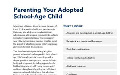 Downloadable Factsheet: Parenting Your Adopted School-Age Child